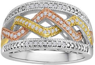 JCPenney FINE JEWELRY 1/5 CT. T.W. Diamond Tri-Tone Ring