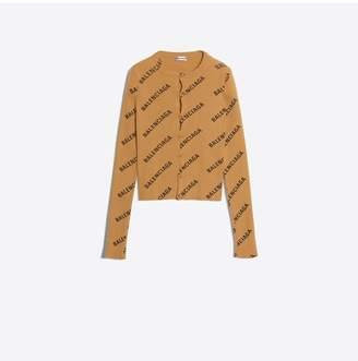 Balenciaga Allover Logo Cardigan