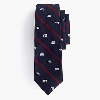 J.Crew Ludlow silk tie in elephant print
