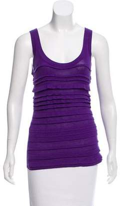 Magaschoni Silk & Cashmere-Blend Sleeveless Top