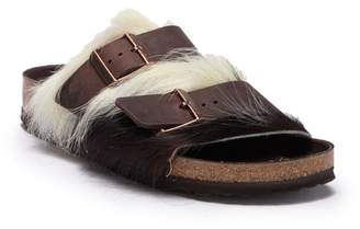 Birkenstock Arizona Genuine Fur Slide Sandal - Discontinued