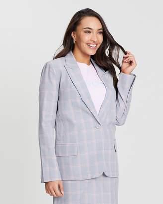 Oasis Pastel Check Suit Jacket