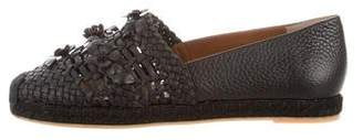 Valentino Leather Woven Espadrille Flats w/ Tags