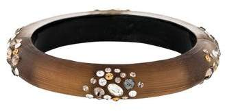 Alexis Bittar Crystal & Lucite Hinged Bangle
