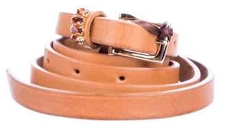 Ermanno Scervino Crystal-Embellished Wraparound Belt