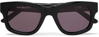 Sun Buddies Bibi Square-Frame Acetate Sunglasses