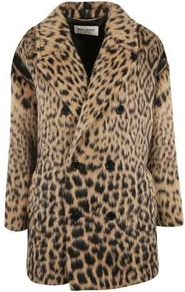 Saint Laurent Leopard Print Coat
