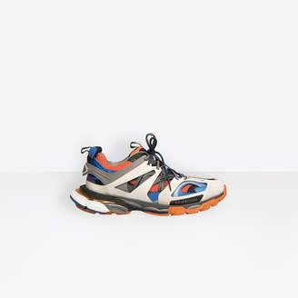 Balenciaga Track trainers in orange, white, dark grey and blue mesh and nylon