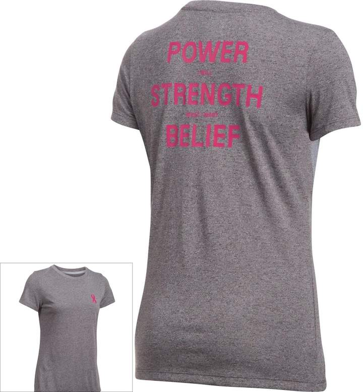 Under Armour Women's Under Armour Power In Pink Tech Short Sleeve Graphic Tee