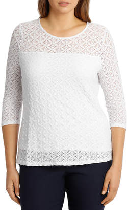 Stretch Lace Short Sleeve Top