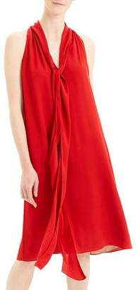 Theory Georgette Halter Scarf Dress