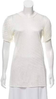 Calvin Klein Collection Textured Satin Top