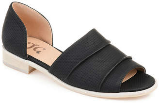 Journee Collection Womens Helena Slip-On Open Toe Shoe