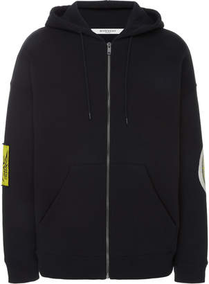 Givenchy Printed Cotton-Poplin Hooded Sweatshirt