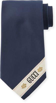 Gucci Provenza Striped Wide Silk Tie