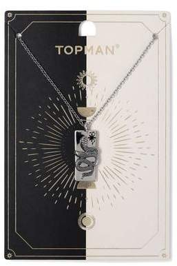 Topman Mens Silver Snake Necklace*