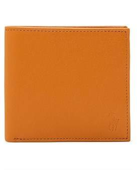Polo Ralph Lauren Smooth Leather Embossed Logo Bifold W Coin Pouch