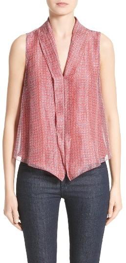 Women's Armani Collezioni Print Linen & Silk Blouse
