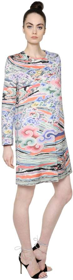 Mary Katrantzou Printed Cotton & Silk Satin Coat
