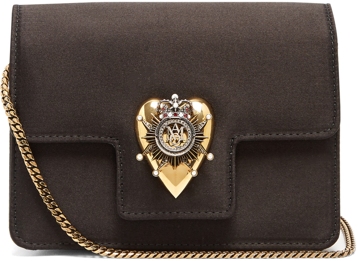 Alexander McQueen ALEXANDER MCQUEEN Heart mini satin shoulder bag