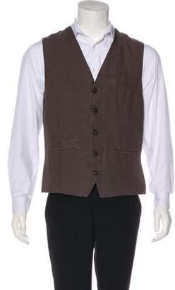 Brunello Cucinelli Linen Suit Vest