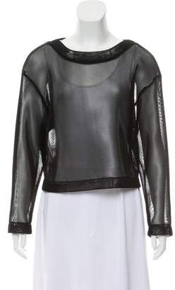DKNY Mesh Oversize Top