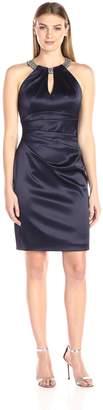 Eliza J Women's Sleeveless Stretch Satin Dress