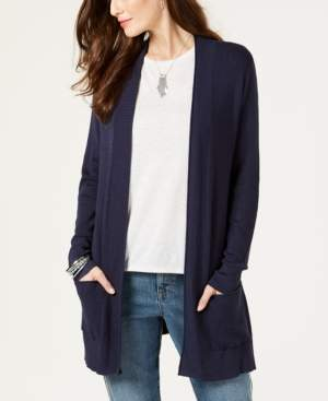 Style&Co. Style & Co Long Thermal-Stitch Cardigan Sweater, Created for Macy's