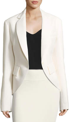 Urban Zen High-Low Wool-Crepe Jacket