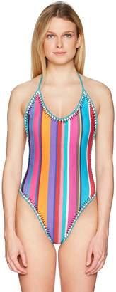 Nanette Lepore Women's Sayulita Serape Goddess One Piece Swimsuit
