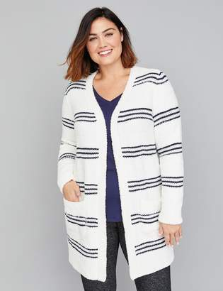 Lane Bryant Striped Boucle Overpiece