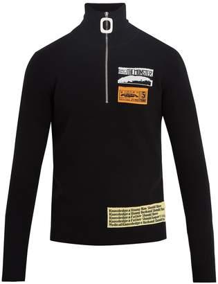 J.W.Anderson Patch-detail half-zip wool-blend top