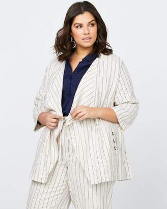 Penningtons Stripe Linen Jacket - In Every Story