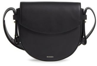 Skagen Lobelle Leather Saddle Bag - Black $195 thestylecure.com
