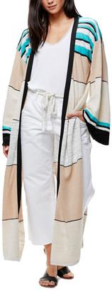 Free People Long Stripe Cardigan $64.97 thestylecure.com