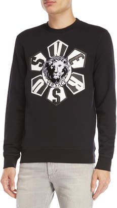 Versace Lion Logo Fleece Sweatshirt