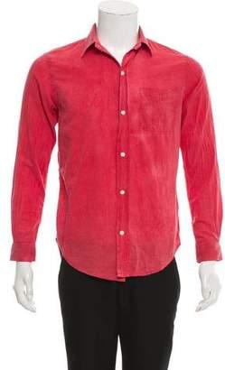 Current/Elliott Woven Button-Up Shirt