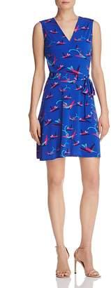 Leota Sleeveless Perfect Wrap Mini Dress $148 thestylecure.com