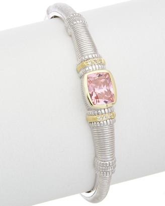 Judith Ripka Classic 18K & Silver 6.38 Ct. Tw. White Topaz & Cz Cuff