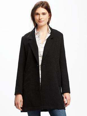 Textured-Bouclé Everyday Coat for Women $54.94 thestylecure.com