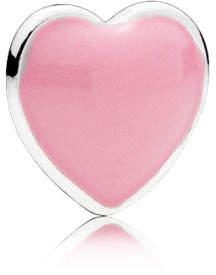 Pandora Pink Heart Petite Locket Charm - Enamel / Sterling Silver