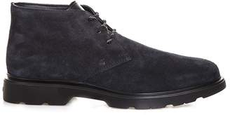 Hogan Blue Desert H304 Shoes In Suede