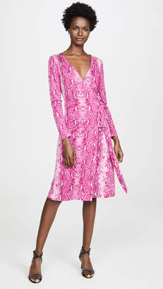 Diane von Furstenberg Long Sleeve Julian Wrap Dress