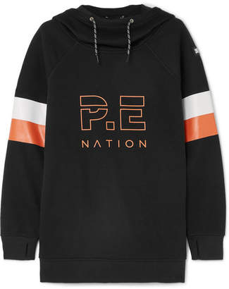 P.E Nation Dc Printed Stretch-jersey Hoodie - Black