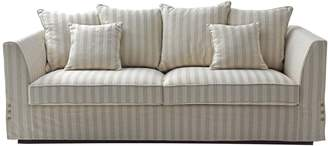 One World Natural Linen Weave 3 Seat Sofa