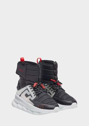 Versace Black Chain Reaction Sneaker Boots