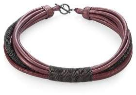 Brunello Cucinelli Leather& Moni Choker
