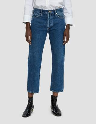 Gold Sign Low Slung Cropped Jean in True Blue