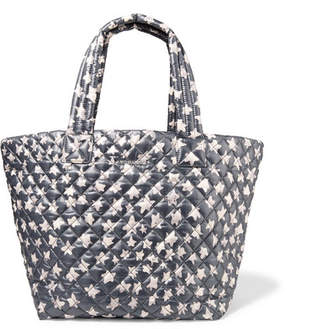 MZ Wallace Metro Printed Quilted Shell Tote - Dark gray