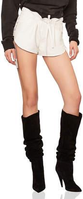 Saint Laurent Lace Up Sides Slouchy Leather Shorts